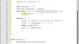 Logic of hangman game - Coding in C++