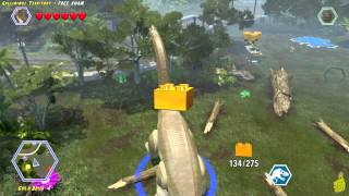 Lego Jurassic World: Gallimimus Territory FREE ROAM (All Collectibles) - HTG
