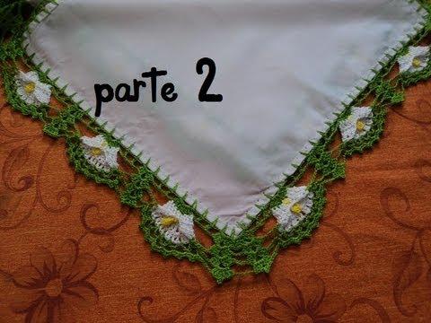 PUNTILLA ALCATRAZ PARA SERVILLETAS,PARTE 2 (GANCHILLO) - YouTube
