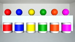 Learn Colors for Children with Soccer Ball Coloring Liquid Water Colors | Kids Learning Color Video