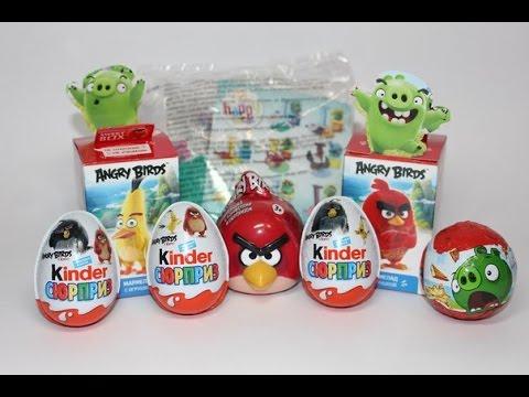 Энгри Бёрдс Микс! Angry Birds Mix! Киндер сюрприз, Свит Бокс и др.