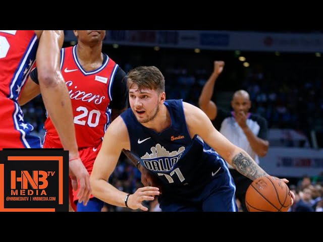 Dallas Mavericks vs Philadelphia Sixers Full Game Highlights | 10.08.2018, NBA Preseason