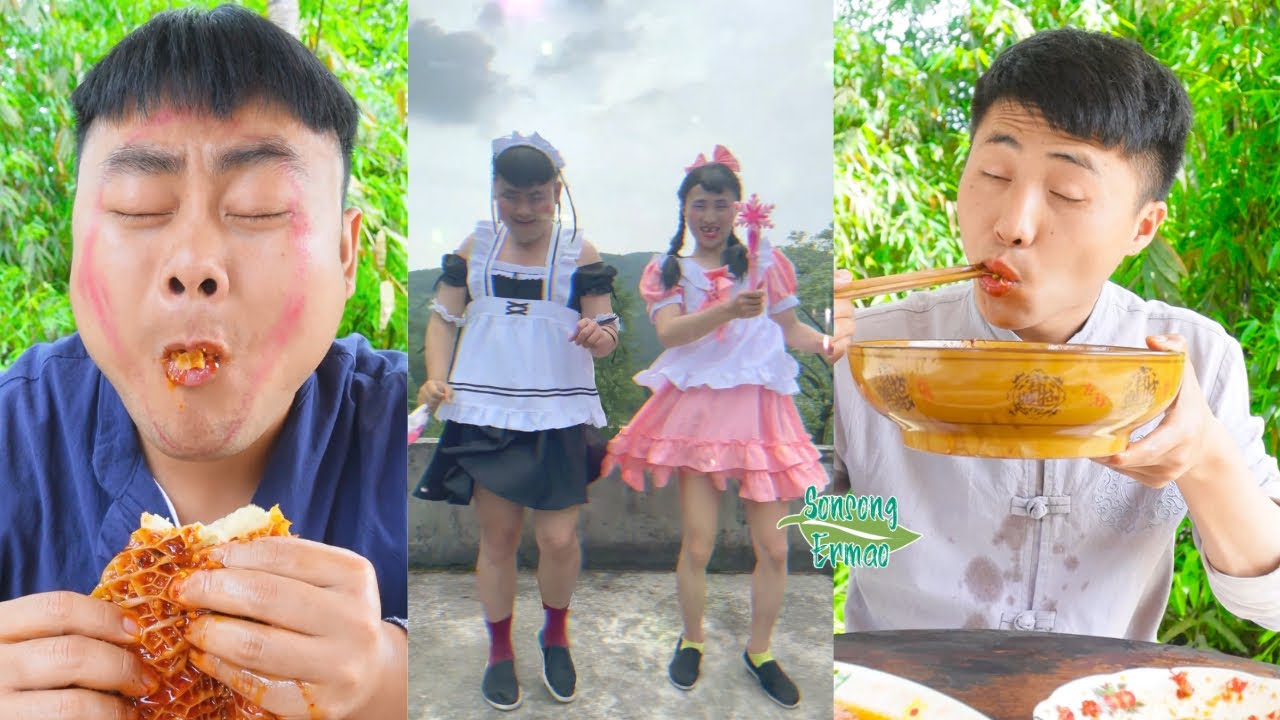 Funny Food Pranks! || Spicy Food Mukbang || Songsong and Ermao