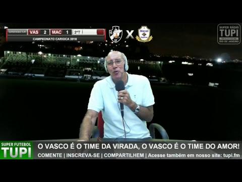 Vasco 2 x 1 Macaé - 1ª Rodada - Carioca 2018 - 01/03/2018 - AO VIVO