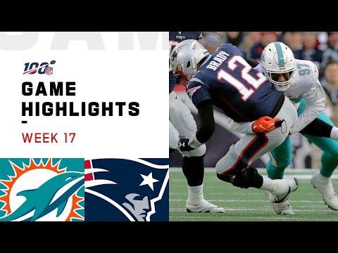 Dolphins vs. Patriots Week 17 Highlights | NFL 2019