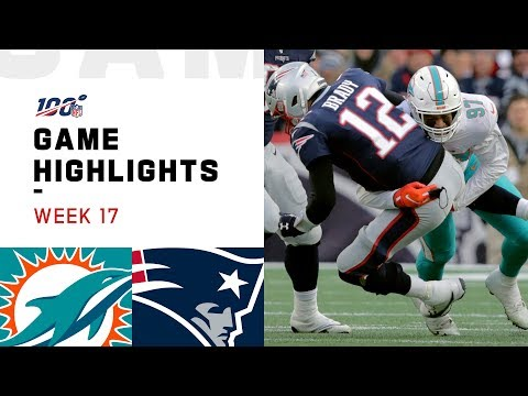 Dolphins Vs. Patriots Week 17 Highlights | NFL 2019