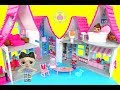 LOL Surprise Dolls at Hello Kitty Dollhouse | Glam Glitter Bling Series | itsplaytime612