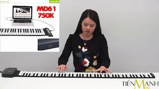 Các mẫu Piano Phím cuộn mềm dẻo Chính Hãng Konix Flexible Roll Up Piano - Tiến Mạnh Music