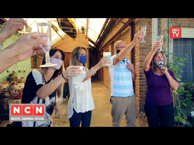 """CINCO TV - Malena Galmarini inauguró la red de agua potable para el barrio """"El Progreso"""" Benavídez"""