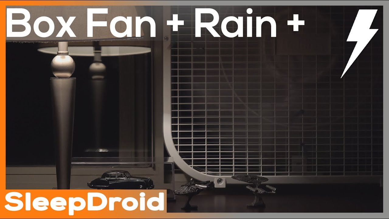 Box Fan And Rain Sounds For Sleeping With Distant Thunder