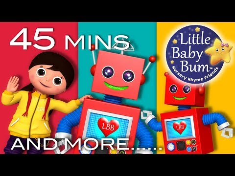 Robot Song | Plus Lots More Nursery Rhymes | 45 Minutes Compilation from LittleBabyBum!
