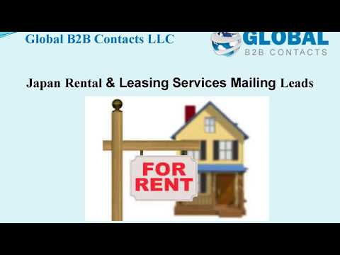 Japan Rental & Leasing Services Mailing Leads, http://globalb2bcontacts.com