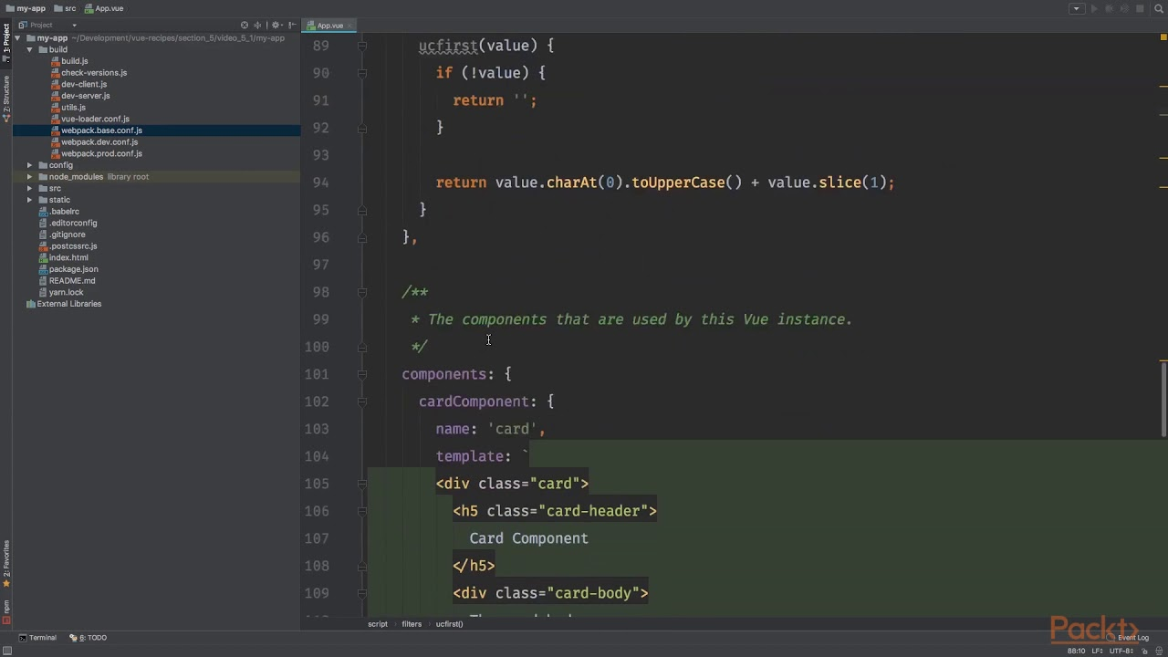 Vue js 2 Recipes : Creating Dynamic Components for Your Applications |  packtpub com