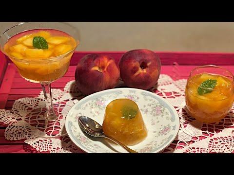 Peaches Gelèe with wine