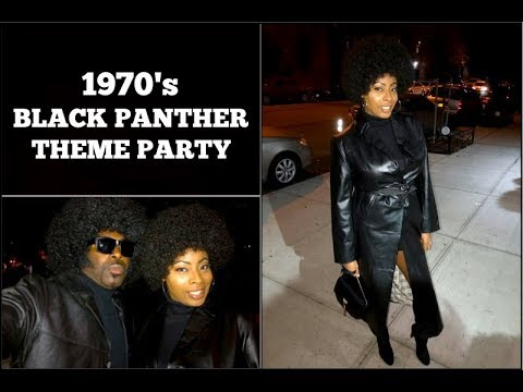 """VLOG #17   1970""""s Theme BLACK PANTHER PARTY   Adult Costume Party!"""