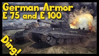 ► World of Tanks E-75 and E-100 Gameplay | German Armor