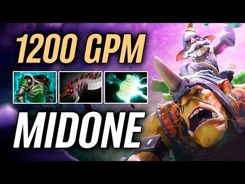 MidOne • Alchemist • 1200 GPM — Pro MMR Gameplay Dota 2