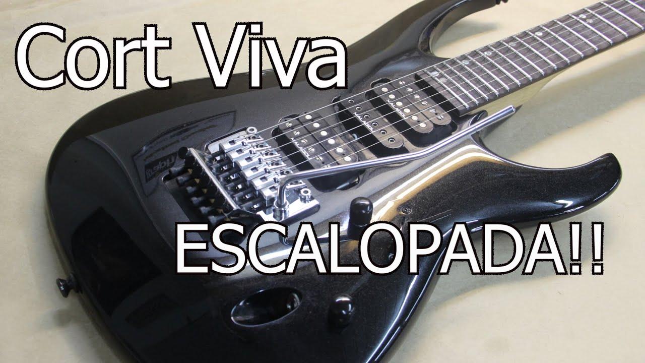 Customização: Guitarra Cort Viva + Escalopagem + Gotoh + Trastes Inox Malagoli. Luthieria Brunelli