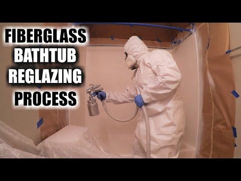 How To Reglaze A Fiberglass Bathtub | Full Fiberglass Bathtub Reglazing | DP Tubs