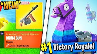 *NEW* DRUM GUN & PLAYGROUND LTM 1V1's I V-Bucks Giveaway (Fortnite Battle Royale)