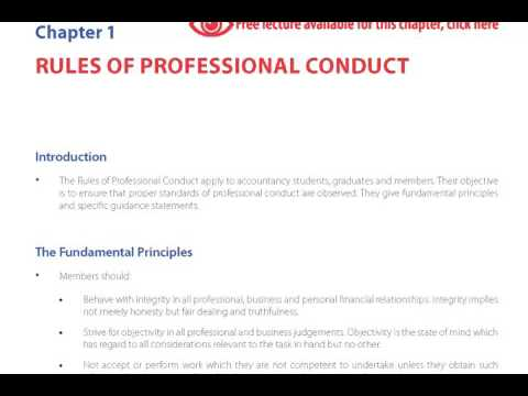Rules of Professional Conduct, Free Lecture