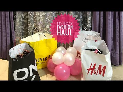 H&M,VERO MODA,ONLY, FOREVER21 ,MARKS & SPENCER BIRTHDAY FASHION HAUL