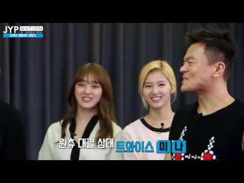 [ V APP/ENG ] JYPNATION - JYP 단체곡 개별파트 쟁탈전