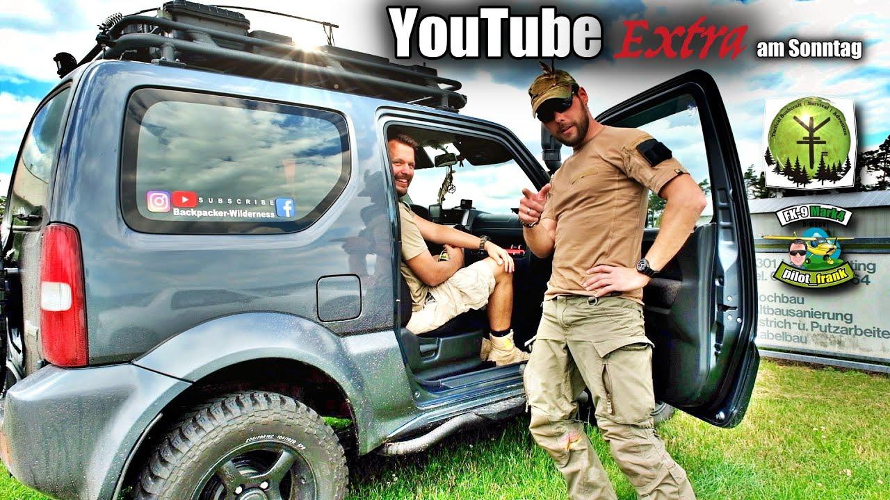 YouTuber Pilot Frank & Backpacker Wilderness / Abenteurer treffen sich spontan. Fliegen & Bushcraft