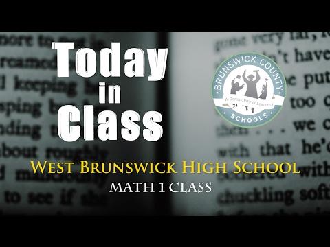 Math 1 Class - West Brunswick High School