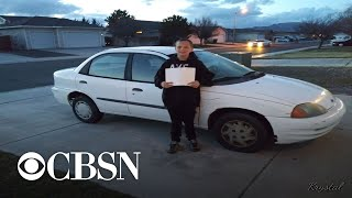 13-year-old boy sells Xbox, does yard work to buy his single mom a car
