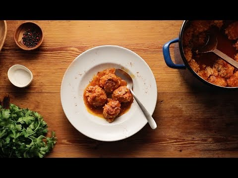 Γιουβαρλάκια κοτόπουλου με πάπρικα