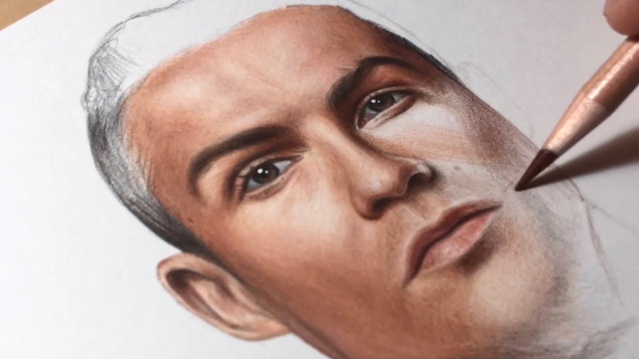 Drawing Ronaldo - Real Time Video #1