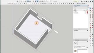 Как нарисовать схему раскладки труб теплого пола в SketchUp 2017, урок 1