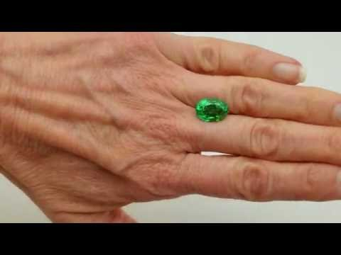 7.17 carat Tsavorite Garnet, Gorgeous Gem - Clean Fiery Strong Minty Green COlor