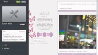 Como mudar o theme do Tumblr