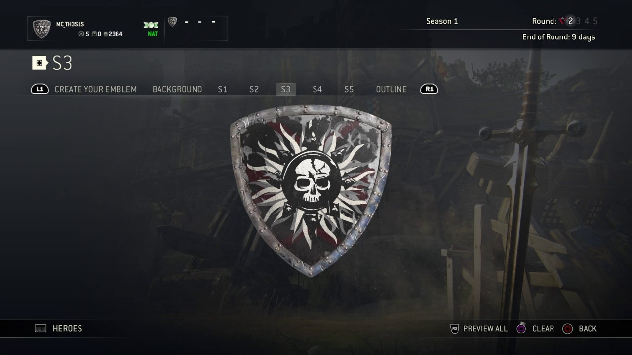 how to create emblem in for honor