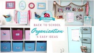 Back to School Organization - 5 Lazy Mom Hacks