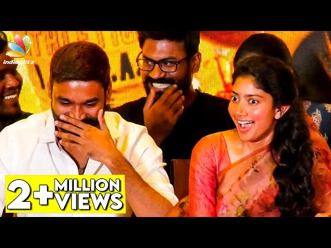 Dhanush Anchor | Sai Pallavi Cute Moments | Maari 2 Press Meet