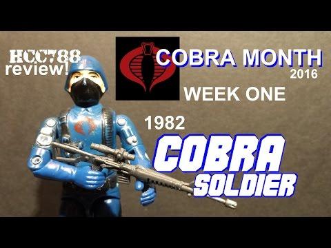 HCC788 -  1982 COBRA Soldier/Trooper- COBRA MONTH week 1! Vintage G.I. Joe toy!