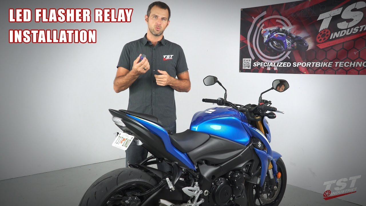 How To Install An Led Flasher Relay On A Suzuki Gsx S1000 By Tst Wiring Indicator Industries