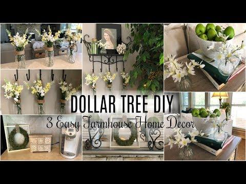 DOLLAR TREE DIY | 3 EASY FARMHOUSE DECOR DIY IDEAS
