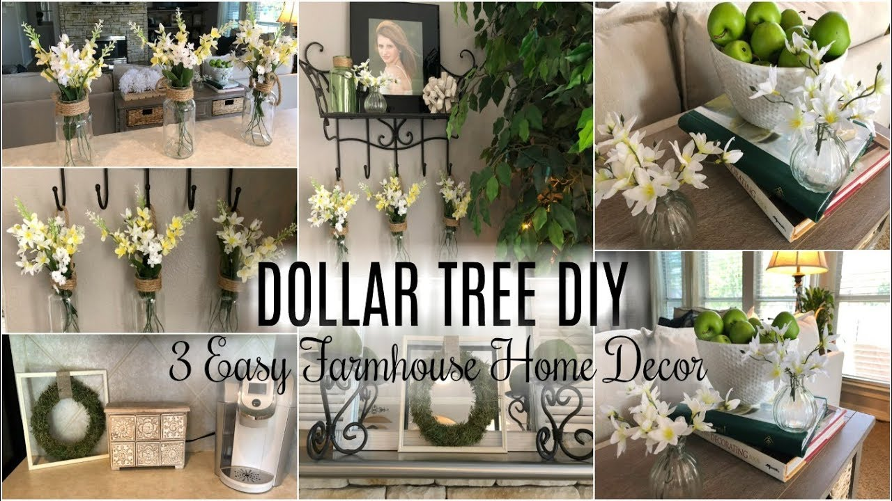 3 EASY FARMHOUSE DECOR DIY IDEAS - YouTube