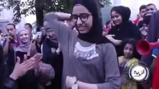 بنت ترقص بعد صلاه العيد مسخره