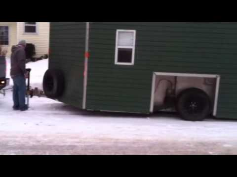 fish house on air bags - youtube