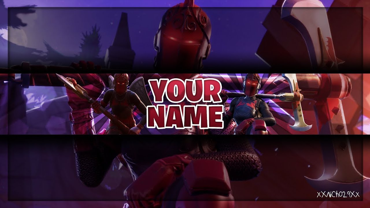 Fortnite Banner Tempalte Red Knight Skin Channel Art Photoshop