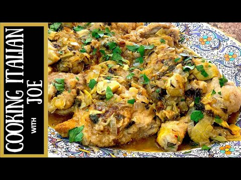 Lemon Chicken with Artichoke | Cooking Italian with Joe