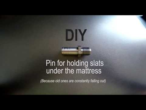 DIY - Pin for holding slats under the mattress