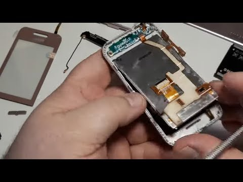 Ремонт Samsung S5230. Замена экрана тачскрина проверка тест