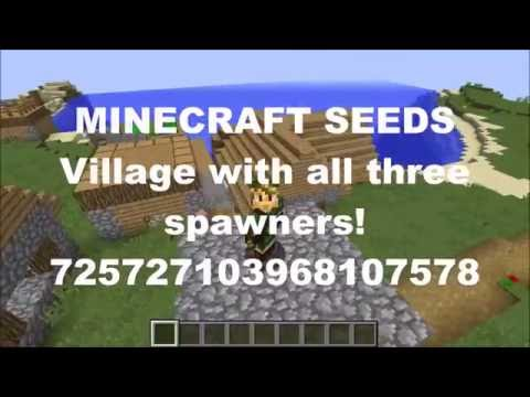 HUGE village with ALL THREE spawners! 1.10.2 seed and older.