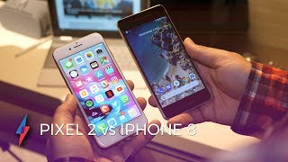 Pixel 2 vs iPhone 8 Hands-On | Trusted Reviews